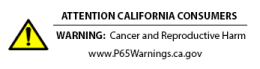 CA Prop65 Warning